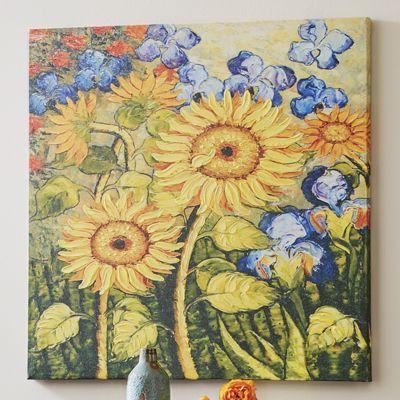 Painterly Sunflower Canvas