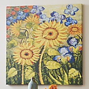 Painterly Sunflower Canvas