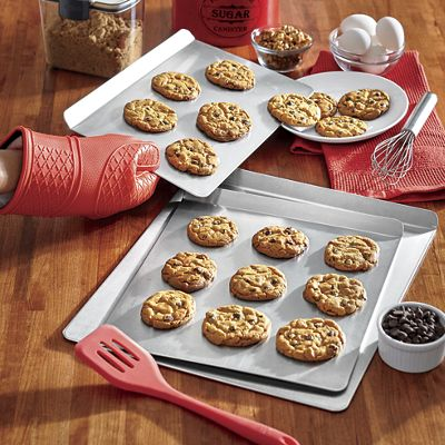 Set of 3 Airbake Cookie Sheets by T-Fal