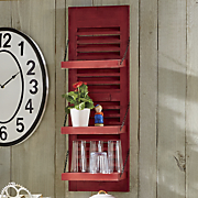 red shutter shelf