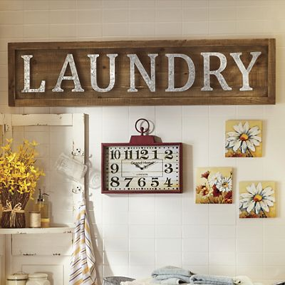Laundry Plaque