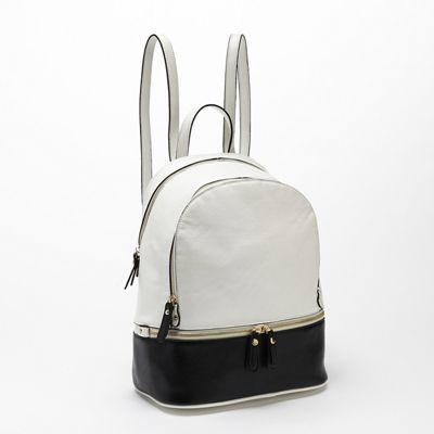 Zipper Detail Backpack by Steve Harvey