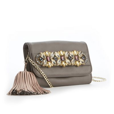 Bejeweled Hand-Strap Clutch