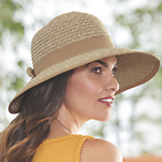 women s sunbrim hat with bow