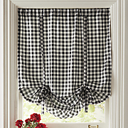 Gingham Check Tie-Up Shade
