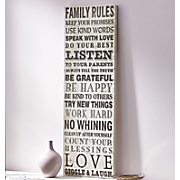 family rules sign 35