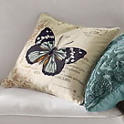 Postale Embroidered Butterfly Pillow