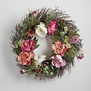 Peony and Hydrangea Wreath