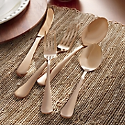 45 pc  copper flatware set