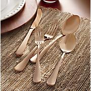 45-Piece Copper Flatware Set