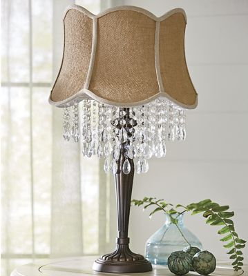 Crystal Linen Lamp