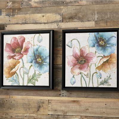 Set of 2 Floral Canvas Prints