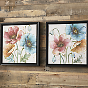 Set of 2 Floral Canvas Prints