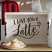 Love Latte Tray