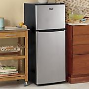 4.6 Cu. Ft. Stainless Steel Refrigerator/Freezer by Montgomery Ward