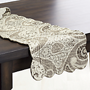 Nazima Gray Valance, Runner and Placemat Set