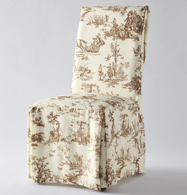 Classic Toile Dining Chair Cover