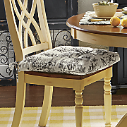 Classic Toile Chair Cushion
