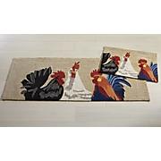 3 Roosters Indoor/Outdoor Mat