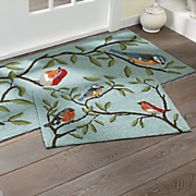 birds on branches indoor outdoor mat