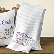 3 pack bunny dishtowels