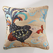 rooster print pillow