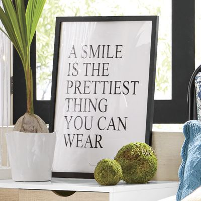 Smile Is The Prettiest Poster Art