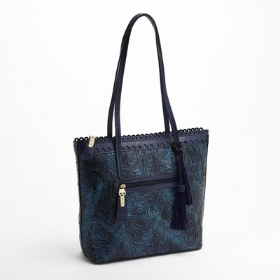 Embossed Floral Tote by Marc Chantal