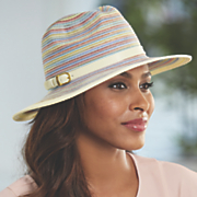 women s mixed braid belted fedora