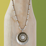initial two tone necklace