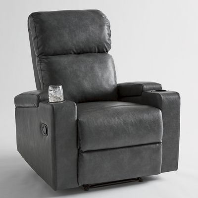 Recliner with Cupholders and Arm Storage