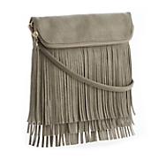 Fringe Foldover Crossbody Bag