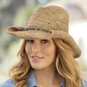 turquoise banded cowgirl hat