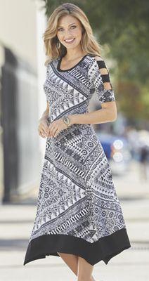 Cutout Sleeve Midi Dress