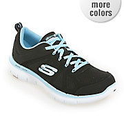 women s flex appeal 2 0 simplistic lace up sneaker by skechers