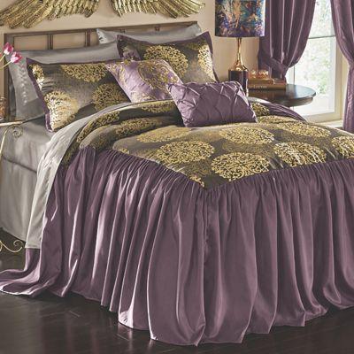 Lexington Jacquard Bedspread Set, Accent Pillows and Window Treatments