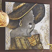 Lady in Hat Canvas