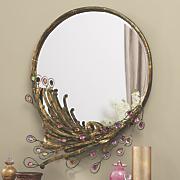 jeweled peacock mirror