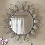 encrusted leaves mirror