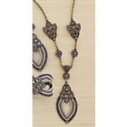 beaded goldtone pendant