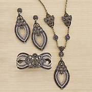 beaded goldtone jewelry