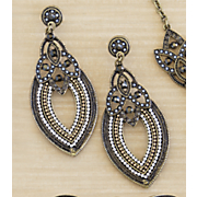 beaded goldtone earrings