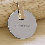 personalized two tone pendant