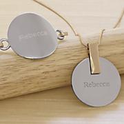 personalized two tone jewelry