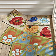 poppies indoor outdoor mat