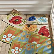 poppies indoor outdoor mat