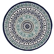 mosaic braided round rug   3