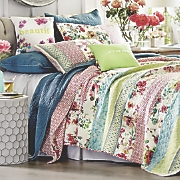Boho Garden Quilt, Sham, Accent Pillows and Shower Curtain by Jessica Simpson