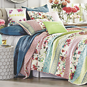 boho garden quilt  sham  accent pillows and shower curtain by jessica simpson