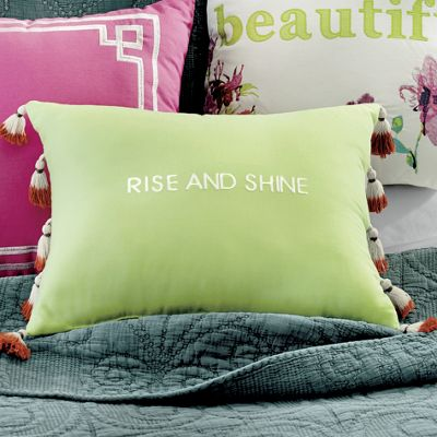 """Boho Garden """"Rise and Shine"""" Accent Pillow by Jessica Simpson"""